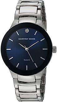 Geoffrey Beene 男式石英金属和合金礼服手表,颜色:银色调(型号:GB8087SLNV)