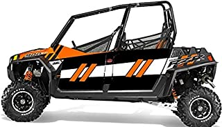 Trail Armor GenX 四门图形套件橙色疯狂 LE 适合:2014 RZR 4 900 EPS