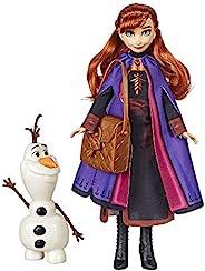 Disney Frozen 迪士尼冰雪奇緣安娜娃娃,配有可拼裝的雪寶玩偶和背包配件,靈感來自《冰雪奇緣2》電影