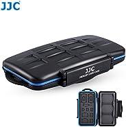 JJC MC-STC14 专业防水手机 SIM 卡和存储卡保护盒,适用于 3 CF + 2 SD + 2 MSD + 2 SIM + 2 个微型 SIM + 3 个 Nano SIM 卡存储卡