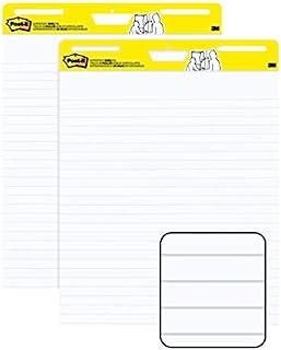 Post-it *粘画架垫,63.5 x 76.2 厘米,30 张/垫,2 个衬垫,高级自粘翻转图纸,教师锚图纸 (561WL)