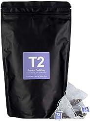 T2 茶-法國伯爵茶紅茶茶包 ,可重復密封袋,60 個茶包,120 克