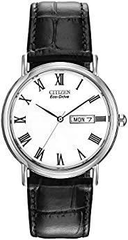 Citizen 西铁城 Eco-Drive 男士皮表带腕表