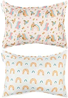 Babygoal 弹性幼儿旅行枕套 2 件套,适合枕头尺寸 13x18,92% 涤纶 + 8% 氨纶,信封封口,可机洗儿童枕套 2TFP01-B