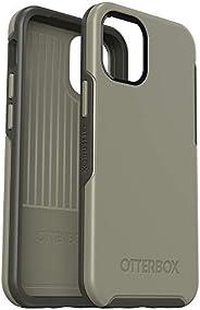 OtterBox 对称系列手机壳,适用于 iPhone 12 Mini - 伯爵灰(素食/攀岩象牙色)