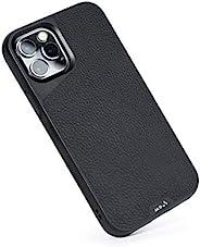Mous - iPhone 12 Pro Max 保护壳 - Limitless 4.0 - 黑色皮革 - 完全兼容 Apple 的 MagSafe