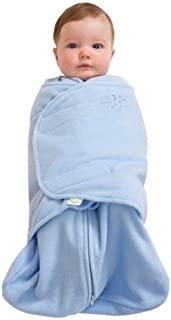 美国 HALO 赫拉 婴儿安全睡袋 包裹式 超细摇粒绒 2合1 婴儿蓝 S(3-6个月) 秋冬厚款