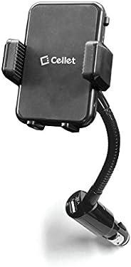 Cellet 智能手机支架/支架,内置 10W/2.1A USB 充电端口,适用于 iPhone Xr/Xs/Xs Max/X/8/8Plus,Samsung Note 9/8/5/ S9/S9Plus/S8/S8 Pl