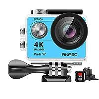 AKASO EK7000 4K WiFi 运动相机 超高清防水 DV 摄像机 12MP 170 度广角EK7000  蓝色