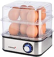 Korona 25303 不锈钢 迷你蒸锅 煮蛋器 蔬菜蒸锅 专业烹饪器 可放 16 个鸡蛋