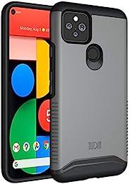 TUDIA DualShield 专为 Google 谷歌 Pixel 5 手机设计,[合并]重型保护超薄硬壳手机壳适用于 Google Pixel 5(金属板)
