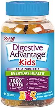 Schiff 旭福 Digestive Advantage 儿童每日益生元软糖,80粒(1包),多种