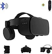 3D 虚拟现实 VR 耳机带无线远程蓝牙,VR 眼镜适用于电影和视频游戏 IMAX 兼容安卓 iOS iPhone 12 11 Pro Max Mini X R S 8 7 Samsung 4.7-6.2英寸手机