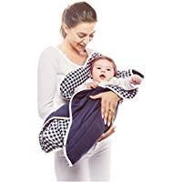 wallaboo 婴儿毛毯 Fleur 超柔100% 棉新生儿适用于婴儿车婴儿睡篮或婴儿床和旅行花朵形状85cm blue vichy