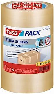Tesa 3 件套包裹胶带 - 66 米 x 50 毫米,哈瓦那