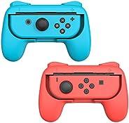Talkworks 手柄适用于 Nintendo Switch Joycon 控制器(2 件装) - 游戏配件 Joy-Con 手持操纵杆遥控支架 Joy Con 套件 - 蓝色/红色组合 - Nintendo Swit