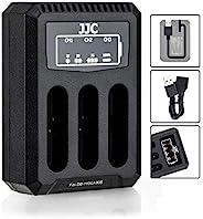 适用于理光 DB-110 Olympus LI-90B 的多电池 USB 充电器,兼容 Ricoh GR III WG-6 和 Olympus Tough TG-5 TG-4 TG-3 TG-2 TG-1 Stylus