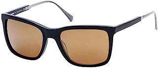 Harley-Davidson 男士黑色标签太阳镜,哑光黑色边框和棕色镜片