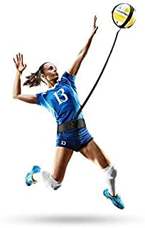 Infiiniity 排球训练器材辅助器材带有可调节腰带和绳长款。 Perfect 排球训练器适合服务、尖峰、臂秋千等技能。 适合所有排球尺寸