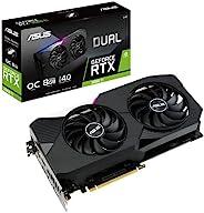 ASUS 华硕 Dual NVIDIA GeForce RTX 3060 Ti V2 超频版游戏显卡(PCIe 4.0,8GB GDDR6内存,LHR,HDMI 2.1,DisplayPort 1.4a,Axial-te