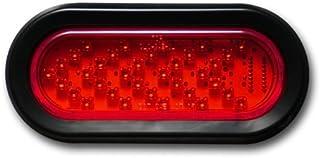 Pacific Dualies 60101 6 英寸(约 15.2 厘米)红色 LED 椭圆形连续转向信号,带红色镜头插头和孔环