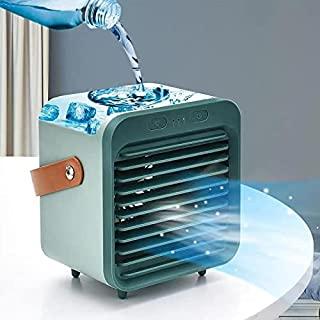 便携式空调,UBS 可充电蒸发冷却器,3 档速度,无线个人空调风扇带手柄,适用于房间办公室
