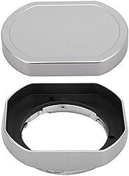 金属卡口镜头罩适用于富士顿 XF 35mm F2 R WR/FUJINON XF 23mm F2 R WR,XC 35mm F2,带帽子,富士35mm F2 镜头罩,富士23mm F2 罩,35mm F2 罩,替换 LH