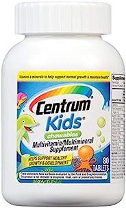 Centrum 善存 儿童咀嚼型多种维生素,多种复合维生素/多种矿物质补充剂(含抗氧化剂和维生素C和E),樱桃/橙子/水果宾治口味-80粒