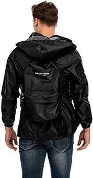 Kenneth Cole 滑雪和雨衣可转换背包 - 超轻和中性设计 30L - 黑色