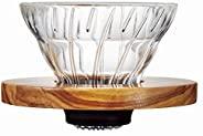 HARIO 好璃奥 耐热玻璃 V60 手冲咖啡滴滤式过滤杯 橄榄木 1号 VDG-01-OV 1~2杯用