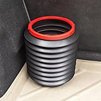 唐莎 车用垃圾桶 魔术桶 伸缩置物桶 折叠小水桶 4L杂物桶