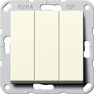 GIRA 283001 摇杆开关开关三开关 55 奶油白色