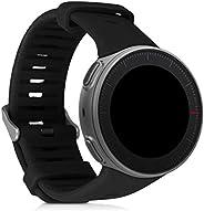 kwmobile 硅胶手表表带 适用于 Polar Vantage V - 健身追踪器替换表带 - 运动腕带手镯 带扣47319.01_m000882 黑色