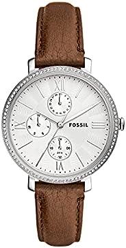 Fossil Jacqueline 多功能皮革手表 ES5095