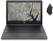 2021 *新的 HP Chromebook 11.6 英寸高清笔记本电脑,MediaTek MT8183 8 核处理器,4GB 内存,32GB eMMC SSD,WiFi,蓝牙,网络摄像头,灰灰色,Chrome OS