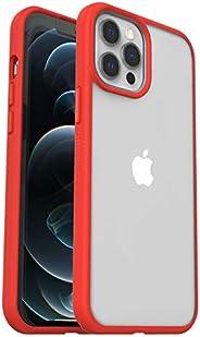 OtterBox Sleek Case - 透明、防摔保护套,适用于 Apple iPhone 12 Pro Max ,透明/红色(无零售包装)