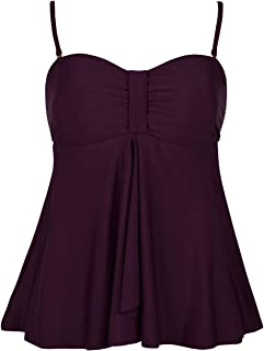 Hilor 女式流苏泳装上衣高领分体式泳衣吊带泳衣上衣