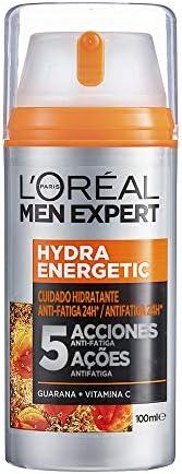 L'Oréal Paris 巴黎欧莱雅 Men Expert 男士面霜 含有瓜拉纳和维生素 C 保湿霜 24 小时抗疲劳 XXL,1 x 10