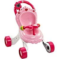 Fisher-Price Princess Mommy 音乐助步器,带活动、音乐和声音的宝宝学步车,1 岁的玩具