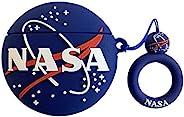 CoolKz NASA 3D 全保护防震硅胶皮肤Airpod 保护套兼容 Airpods Pro 保护套,可爱卡通 Airpods 保护套,适合女孩、青少年男孩(NASA)