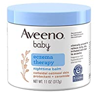 Aveeno Baby **晚霜,天然膠態燕麥和雙甲基硅酮,適合干性皮膚和嬰兒*緩解,11 盎司(約 322 毫升)