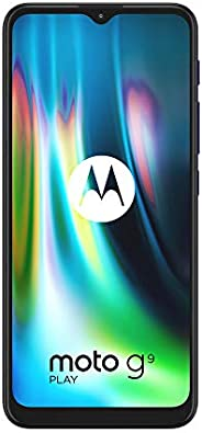 Motorola 摩托罗拉 Moto G9 Play - 智能手机 64GB,4GB RAM,双Sim,蓝宝石蓝
