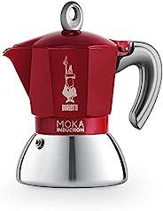 Bialetti Bialetti New Moka Induction 咖啡機 適用于電磁爐 鋁 / 鋼 2 杯 紅色