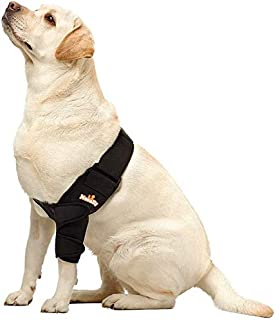 NeoAlly 透气狗狗肘部支撑保护垫适用于犬肘部和肩部支撑肘部湿度、*不良、骨*、肘部老茧、压力痛和肩部失位(左大号)