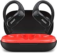 SENSO 无线耳塞 – 蓝牙真无线耳机 – TWS *佳运动耳机 锻炼降噪防汗耳塞 带麦克风 40 小时播放时间 适用于 iPhone、跑步、健身房