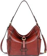 女士手提包油蜡皮革钱包设计师桶手提包复古女士手提包时尚单肩包