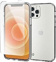 Elecom 宜丽客 iPhone 12 / 12 Pro 贴膜/手机壳 混合 耐冲击 透明 PMWA20BHVCCR