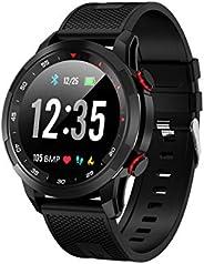 智能手表 2020 版,带血氧 SpO2 *监测仪,IP67 防水,健身追踪器手表,带计步器,心率监测器,*追踪器,兼容 iPhone 三星(黑色)