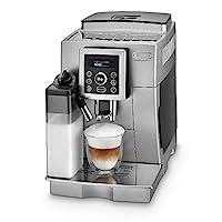 De'Longhi 德龍 全自動咖啡機 ECAM 23.466.S 帶有奶泡系統 一鍵式制備卡布奇諾及意式濃縮(Espresso),帶純文本的數字顯示,2杯功能,1.8升大水箱,銀色