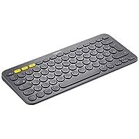 Logitech K 480藍牙無線鍵盤適用于 PC ,平板電腦和智能手機 (qwertz) 黑色(German Layout 德語版本 QWERTZ布局)